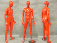 Male Mannequin EggHead Glossy Red Color Dress Form Display #Md-Km26R