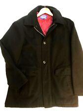Men's PENDLETON Wool  Black Jacket/ Coat Button Up & Zipper Size Large RN 29685