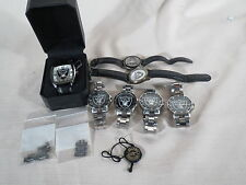 Game Time Raiders Sports Wristwatch and Fossil Team NFL  Lot of 7  WOW!!!