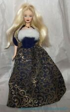 2001 Barbie WINTER NEW YEAR HOLIDAY MACKIE FACE Doll w/Fur Trimmed Brocade Gown