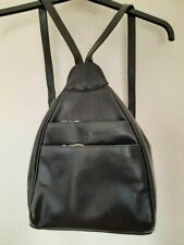 Women  Black 100%  Leather Backpack  HandBag