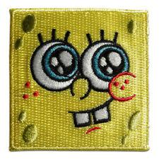 Aufnäher / Bügelbild - Spongebob Schwammkopf Gesicht Kinder – gelb – 6,5x6,4cm