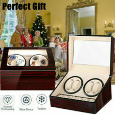 Watch Winder Box Watch Case Gift Christmas Rotating Storage 4+6 Grids V04