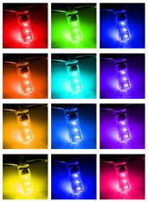 T10 5050 Car LED Bulb 6 SMD Multicolor W5W 501 Side Light Bulb Remote Control
