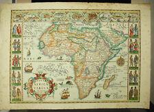 Nova Africa tabula d'ap Jodocus HONDIUS c1900 carte d'Afrique old map Karte XVII