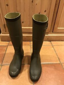 Aigle Cessac Mens Wellingtons Boots Khaki  Size 45 UK 10.5