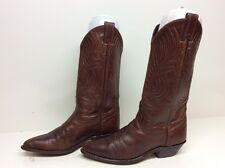 WOMENS CODE WEST COWBOY LEATHER BROWN BOOTS SIZE 6 M