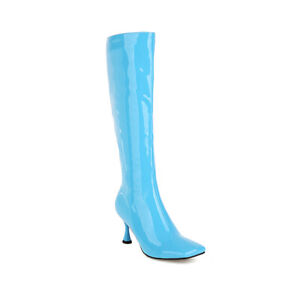 Womens Boots Sexy Pointed Toe Knee High Ladies High Heel Zipper Western Chic