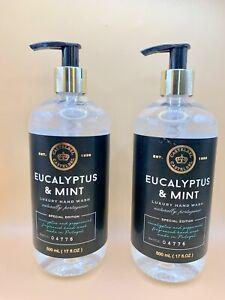 2 Bottles Castelbel Special Edition ~ Eucalyptus & Mint Luxury Hand Wash 17 oz