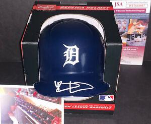 Riley Greene Detroit Tigers Autographed Signed Mini Helmet JSA WITNESS COA