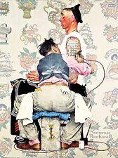 Portrait peinture salon de tatouage encre marin artiste USA rockwell Poster lv3413