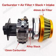 Gas Scooter Carburetor Stack Air Filter 33cc 43cc 49 50 52cc Cat Eye Pocket Bike