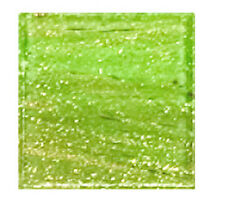 Pistachio Green Copper Veined Glass Mosaic Tiles - 3/4 inch - 25 Tiles