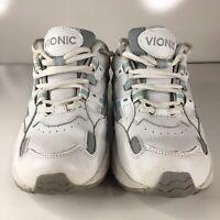 Vionic Orthaheel Walker Walking Shoes White Blue Womens Size 6.5