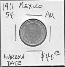 MEXICO - BEAUTIFUL HISTORICAL NICKEL 5 CENTAVOS, 1911 (NARROW DATE)  KM# 421