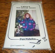 QUILT/SEWING PATTERN CAROL'S RUN AROUND JACKET BY FUN FABRICS 1992