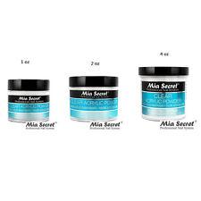 Mia Secret Professional Acrylic Nail System CLEAR Acrylic Powder 4 oz  MADE USA