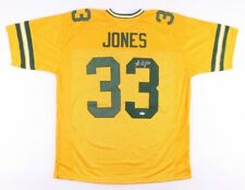 AARON JONES AUTOGRAPHED SIGNED GREEN BAY PACKERS JERSEY Beckett COA WB42918