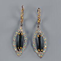 Tourmaline Earrings Silver 925 Sterling Jewelry SET Gemstone  /E42077