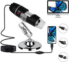 Usb Microscope Handheld Magnification Endoscope Camera 40x To 1000x 8 Led Lights