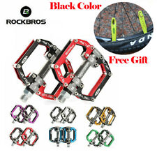 "ROCKBROS Cycling Bicycle Pedals MTB Road Bike Axle 9/16"" Aluminum Alloy Bearing"