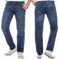 Lorenzo Loren Herren Jeans Hose Herrenjeans Used Look Denim Vintage Blau LL-2516