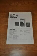 Alba SS110 tower system Hifi Vintage Service Manual