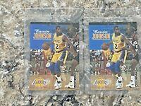 (2) 1992-1993 Skybox Magic Johnson #358 Los Angeles Lakers NBA Basketball Card