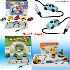 2017 HOT  Magic Follow Any Drawn Line Pen Inductive Toy Car Truck Bus Tank Model