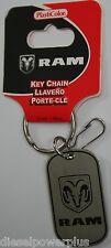 Dodge RAM keychain holder badge clip key ring latch dog tag Mopar Chrysler Chain