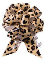"10-5"" Cheetah Print Pull Bow Pew Bows Wedding Decorations Christmas Gift Wrap"