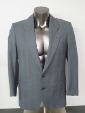 Men's YSL Gray 2 Button Jacket Blazer Sport Coat Pure Wool Made In France Yves