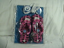 Mogo We Click Flops, Flip Flops Children Size 13/1, Pink, Two Charms Included