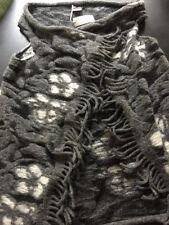 New IPERICO Italy Fringe Draped Open Front Vest Poncho Cardigan one size BOHO