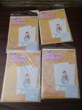 Cross Stitch Kit  Christmas Cards to Make So & Sews Snowman x 4 (NEW)