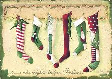 Stockings Were Hung Jill Ankrom Box of 16 Christmas Cards by LPG Greetings