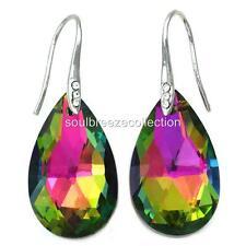 Multicolor Chandelier Teardrop Dangle Drop Prom Bridal Shower Wedding Earrings