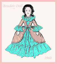 """Reproduction of a Vintage Boudoir 15"""" Tall doll Sewing Pattern"""