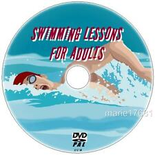 SWIMMING LESSONS FOR ADULTS + WATER CONFIDENCE DVD NEW, LEARN TO SWIM & BE SAFE