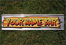 YOUR OWN NAME BAR WOODGRAIN STREET SIGN ROAD BAR SIGN- NEW
