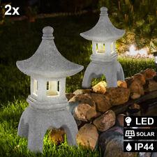 LED Außen Bereich Steh Lampe SOLAR Pagode Statue Deko Balkon Park Beleuchtung