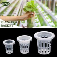 50Pcs Hydroponic Colonization Mesh Pot Net Cup Baskets Planting  Nursery Plants