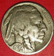 1936 Philadelphia Mint Buffalo Nickel  ID #13-37