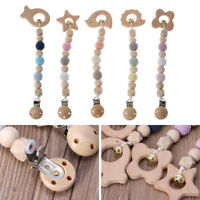 Child Animal Clip Rattles Baby Beech Wood Teether Shower Gift Bed Hanging Toys