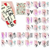 50PCS/Lot  Mixed Flowers Stickers Decals Nail Art Tips Water Transfer