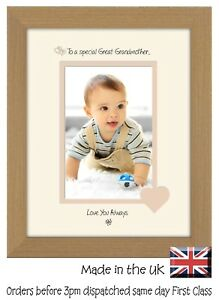 Great Grandmother Photo Frame Portrait 6x4 Special Great Grandmother 1080F