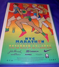 Original New York City Marathon Poster, Peter Max Nov. 12, 1995, 21 in. x 33 in.