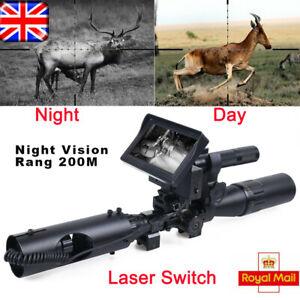 200M Infrared Night Vision LED Wild Sight Rifle Scope DIY IR 4.3'' LCD Monitor