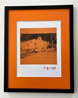 ANDY WARHOL AWESOME 1984 SIGNED  PRINT MATTED TO BE FRAMED AT 11 X 14
