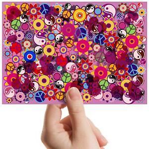 "Hippy Flowers Peace Yin Yang Small Photograph 6""x4"" Art Print Photo Gift #15776"